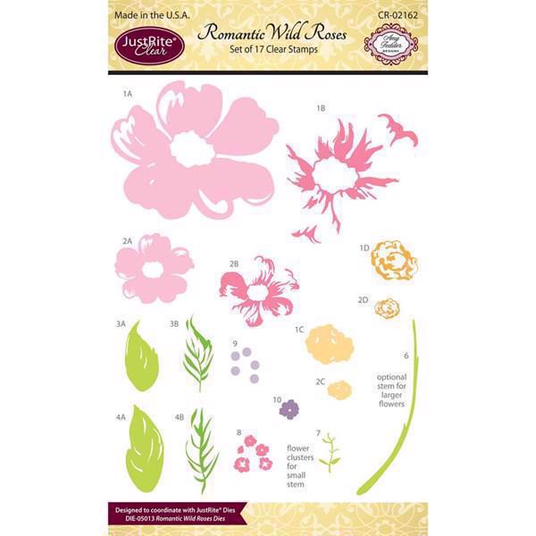 Just Rite Clear Stamp Set - Romantic Wild Roses