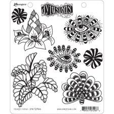 Cling Rubber Stamp Set - Dylusions / Foliage Fillers