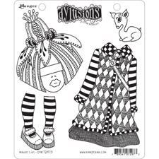 Cling Rubber Stamp Set - Dylusions / Maisie Lilly