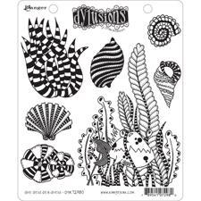 Cling Rubber Stamp Set - Dylusions / She Sells Sea Shells