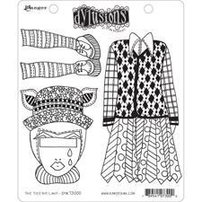 Cling Rubber Stamp Set - Dylusions / The Ties The Limit!