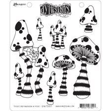 Cling Rubber Stamp Set - Dylusions / There's No Mushroom In Here!