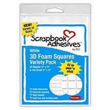 Scrapbook Adhesives Foam Squares - White
