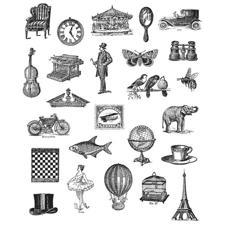 Tim Holtz Cling Rubber Stamp Set - Tiny Things