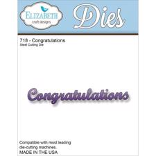 Elizabeth Crafts Die - Congratulations