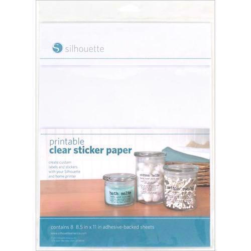 Silhouette Printable Sticker Foil - Clear