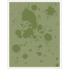 Sizzix Embossing Folder - Tim Holtz / Ink Splats