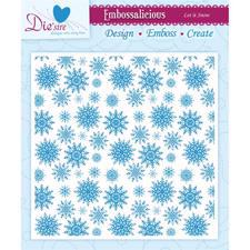 "Die'Sire Embossalicious Folder - 6x6"" / Let it Snow"