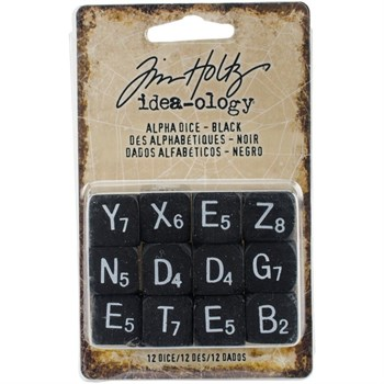 Tim Holtz / Idea-ology - Alpha Dice / Black