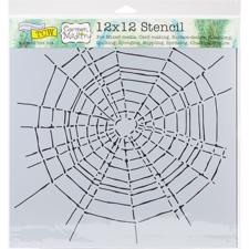 "Crafter's Workshop Template 12x12"" - Scary Web"