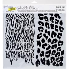 "Crafter's Workshop Template 12x12"" - Wild Prints"
