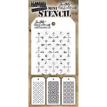 Tim Holtz MINI Stencil Set - #30
