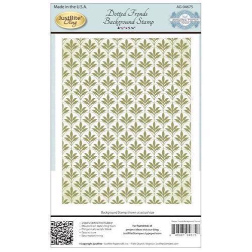 Just Rite Cling Stamp - Background / Dotted Fronds