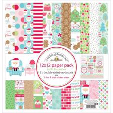 "Doodlebug Design Paper PACK 12x12"" - Milk & Cookies"