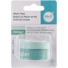 WRMK Washi Tape - Weekdays (aqua)