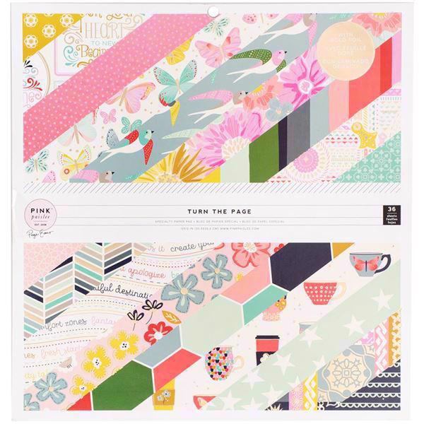 "Pink Paislee Paper Pad 12x12"" - Paige Evans / Turn The Paige"