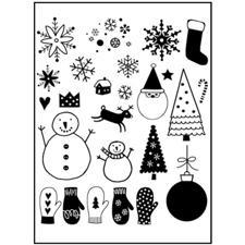 Clearstamp - Snowflakes, Snowmen & Mittens
