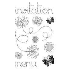 Artemio Clearstamp Medium Set - Butterfly Invitation