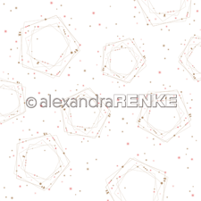 "Alexandra Renke Design Scrapbook Paper 12x12"" - Geometric Christmas / Many Polygons"
