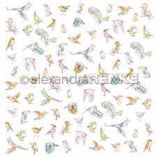 "Alexandra Renke Design Scrapbook Paper 12x12"" - Paradise / Many Different Birds"