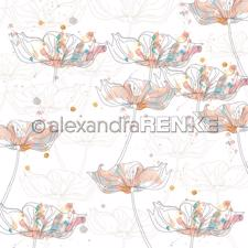 "Alexandra Renke Design Scrapbook Paper 12x12"" - Paradise / Many Sidelong Poppies"