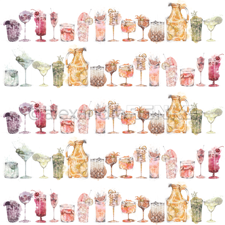 "Alexandra Renke Design Scrapbook Paper 12x12"" - Cocktail / Mixed Cocktails"