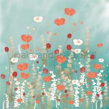 "Alexandra Renke Design Scrapbook Paper 12x12"" - Memories / Poppyflower Meadow"