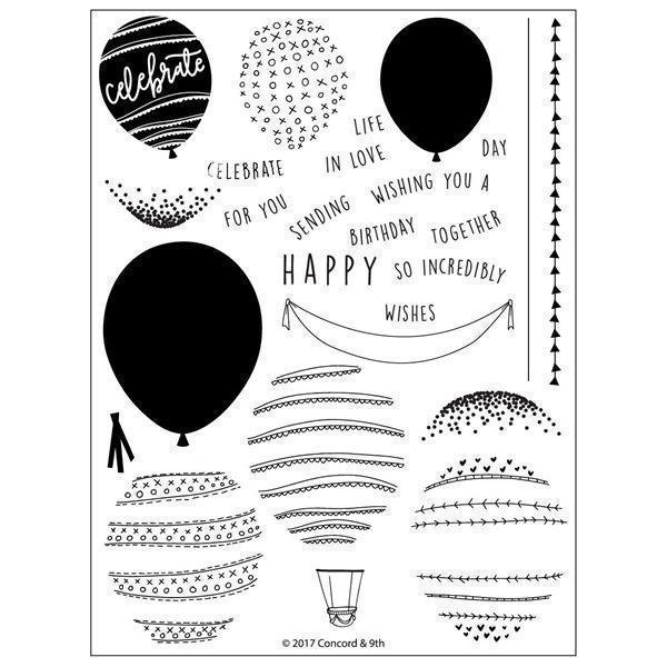Concord & 9th Stamp Set - Happy Balloons