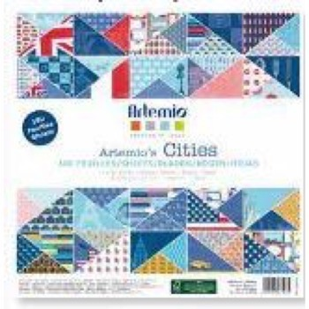Artemio Paper Pad - Cities (New York, Paris & London) / 180 ark
