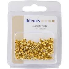 "Artemio Eye-Lets 1/8"" - Gold (100 pc)"