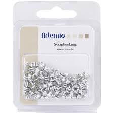 "Artemio Eye-Lets 1/8"" - Silver (100 pc)"