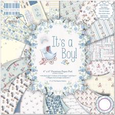 "First Edition Paper Pad 6x6"" - It's a Boy"