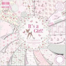 "First Edition Paper Pad 12x12"" - It's a Girl"