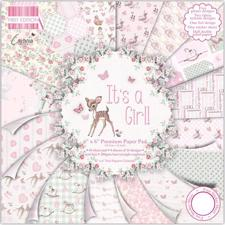 "First Edition Paper Pad 6x6"" - It's a Girl"