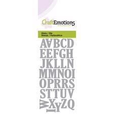Craft Emotion Dies - Uppercase Alphabet (small)