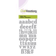 Craft Emotion Dies - Lowercase Alphabet (small)