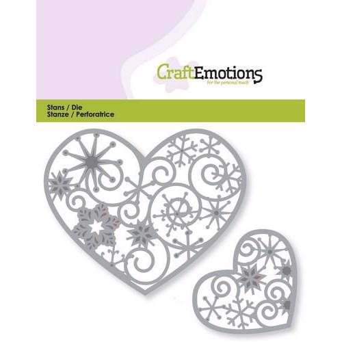 Craft Emotion Dies - Hearts w. Crystal Ornament