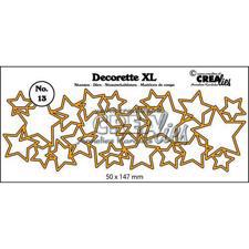 CREAlies - Decorette XL Die - Interlocking Stars (stor)