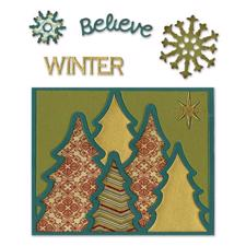 Sizzix Thinlits - Winter Card Front