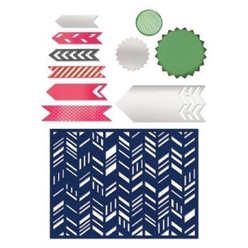 Sizzix Thinlits - Fancy Chevron Card Front