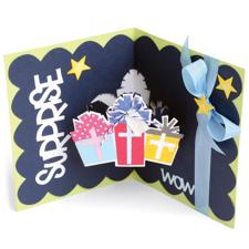 Sizzix Framelits Die Set - Scallop Gifts Drop-Ins Card (12 dele)