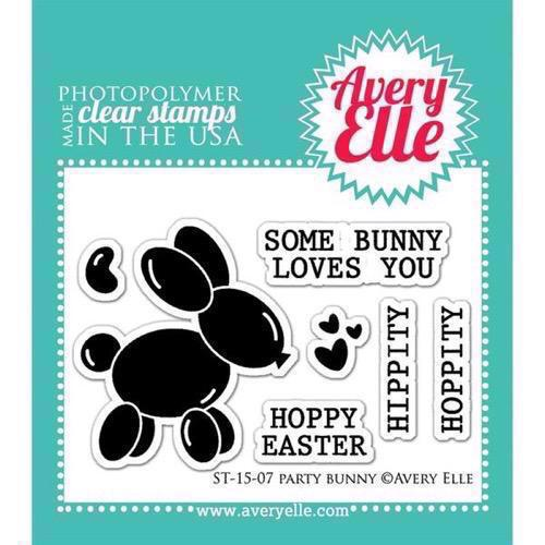Avery Elle Clear Stamp - Party BUNNY
