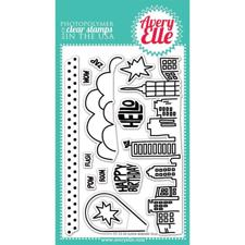 Avery Elle Clear Stamp - Super Hero