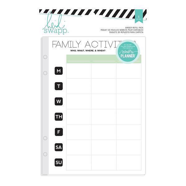 Heidi Swapp Planner System - Hello Beautiful Refill Pack / Family Activities