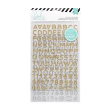Heidi Swapp Planner System - Hello Beautiful Alpha Stickers Silver & Gold