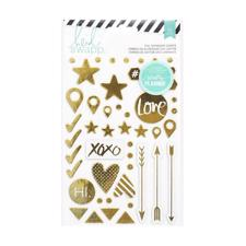 Heidi Swapp Planner System - Hello Beautiful Gold Chipboard Stickers