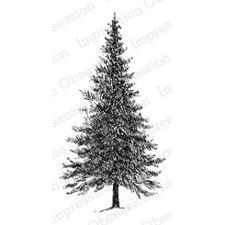 IO Stamps Cling Stamp - Fir Tree Large