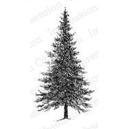 IO Stamps Cling Stamp - Fir Tree Small