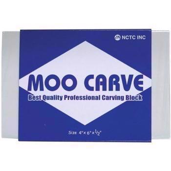 Moo Carving Block - 4x6""