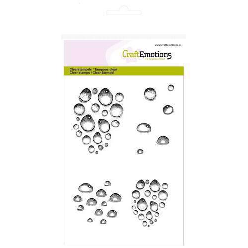 CraftEmotions Clear Stamp Set - Water Drops
